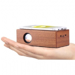 best creative portable wireless magic wood induction speaker